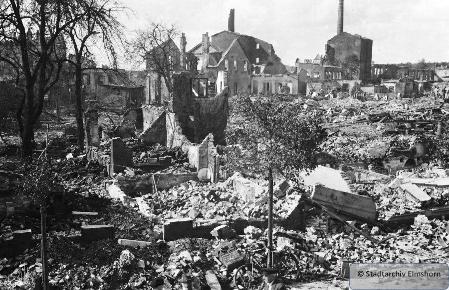Bombenschäden im Bereich Jürgensstraße - Lindenstraße - Bauerweg