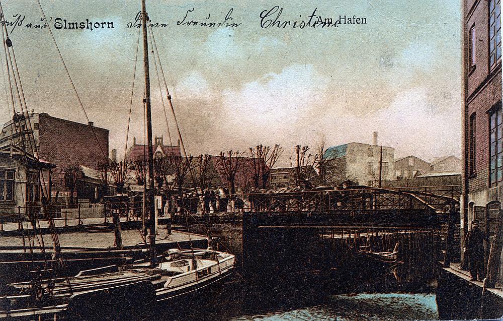 Blick in Richtung Elmshorner Hafen