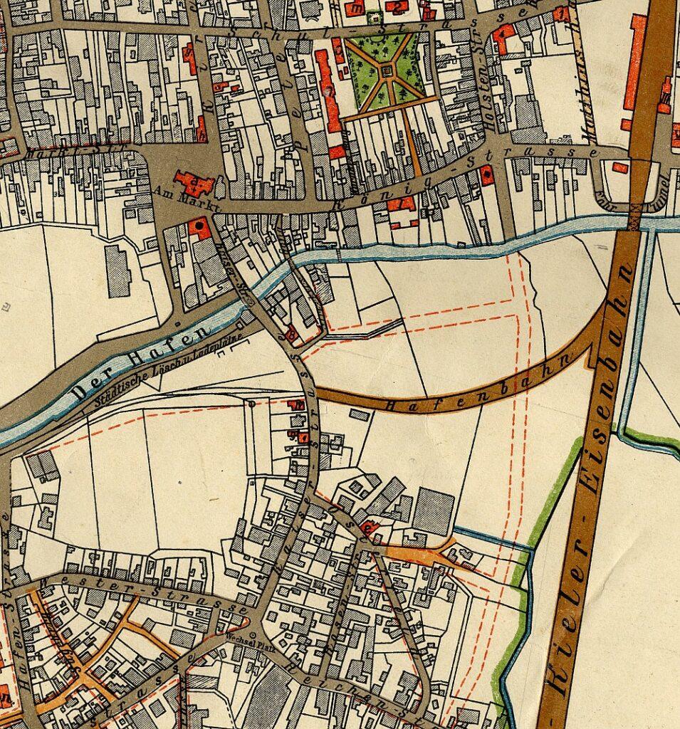 Ausschnitt einer Stadtkarte verm. um 1900