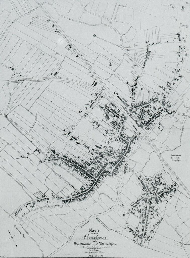 Stadtplan Elmshorn von 1887