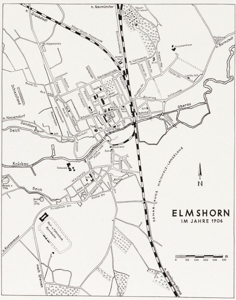 Stadtplan Elmshorn von 1906
